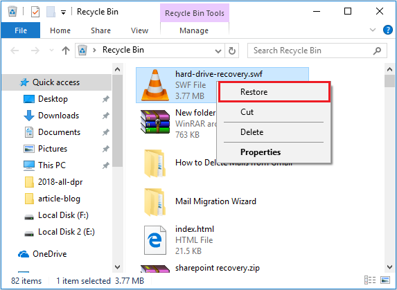 Recover Deleted Data from Recycle Bin Folder TechDu