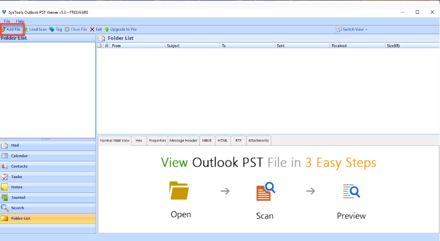 SysTools Outlook PST Reader - TechDu